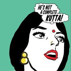 Maria Qamar   A Hatecopy Desi Pop Art original on poster print.