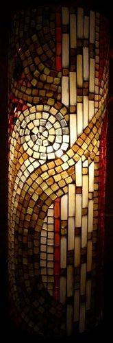 Mosaic lamp for Susanne by Mosaikstall, via Flickr