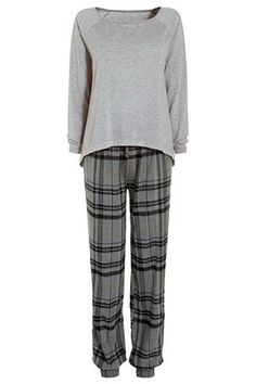 Buy Grey Check Pyjamas from the Next UK online shop