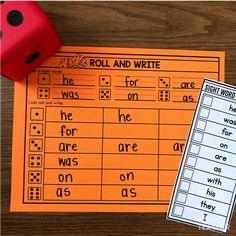 Differentiated Sight Word Activities A Kinderteacher Life : Roll and Write sight words Kindergarten Special Education, Education And Literacy, Kindergarten Centers, Literacy Centers, Writing Centers, Literacy Stations, Sight Word Centers, Sight Word Practice, Sight Word Games
