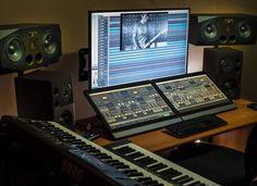 Music Recording Studio, Audio Studio, Recording Studio Design, Sound Studio, Home Studio Setup, Home Studio Music, Dream Studio, Studio Equipment, Studio Gear