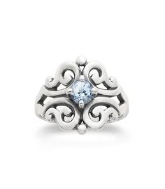 Spanish Lace Ring with Lab-Created Aqua Spinel | James Avery