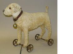 Steiff Terrier on wheels, circa 1913
