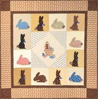 "The ""Mary's Chocolate Bunnies"" quilt pattern by Dolores Joshua at KayeWood.com is a perfect way to bring in the Easter spirit! 