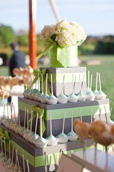 cake pop display. I like the stand.