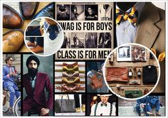 Menswear Consumer Profile Mood Board on SCAD Portfolios