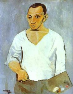 Pablo Picasso - Self-Portrait with a Palette, 1906