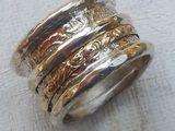 Silver Gold #Ring #spinning bands