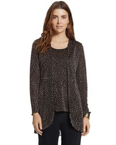 Chico's Travelers Collection Animal Shimmering Duster #chicos