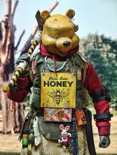 A Hardcore Honey Bear is listed (or ranked) 5 on the list Badland Models Transforms Pop Culture Icons Into Mad Max-Style Bandits Cartoon Kunst, Cartoon Art, Cartoon Characters, Post Apocalyptic Costume, Post Apocalyptic Art, Apocalyptic Fashion, Arte Cyberpunk, Character Concept, Character Art