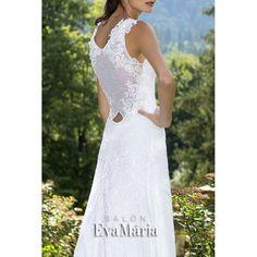 Svadobné šaty s krajkovaným živôtikom a širokou sukňou Zlata ... 8d14a2ee359