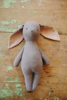 Handmade Rabbit Toy - Spring Stuffed Toys - Willowynn toys for Easter   Small for Big