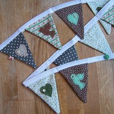 Mini Bird and Heart Bunting