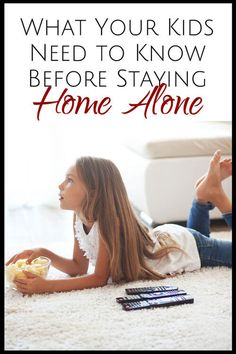 Great tips for parents and kids before kids stay home alone
