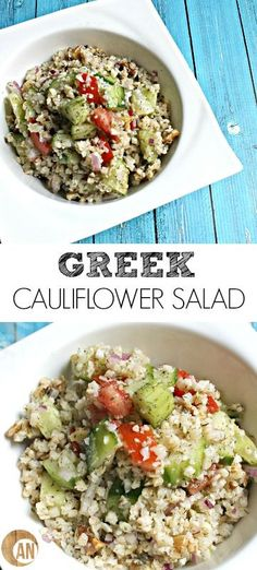 Greek Cauliflower Salad - a healthy, paleo, gluten-free side dish, snack or lunch!
