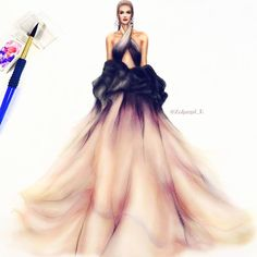 Fashion Illustrator в Instagram: «soft ombre faded colors (I mixed two different watercolor sets & added pastel layer) @marchesafashion #ny #fashionweek #17…»