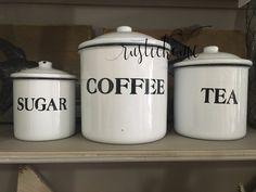 Coffee Tea Sugar Metal Kitchen Canister Set Home Decor Kitchen Storage  Decor Farmhouse Decor By YourRusticHome