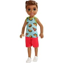 Check out Barbie Club Chelsea Doll featuring a Brunette Boy Doll Wearing Food-Themed Romper. Explore the world of Chelsea at our Barbie shop today! Boy Barbie Dolls, Barbie Chelsea Doll, Barbie Shop, Doll Clothes Barbie, Barbie Toys, Boy Doll, Barbie Club, Barbie Playsets, Disney Gift Card