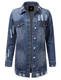 Doublju Vintage Button Down Denim Jacket For Women With Plus Size MEASUREMENTS  AWOJA0499 : S – Shoulder: 14.5 in. / Chest: 35 in. / Length: 21.5 in. / Sleeve Length: 23 in. M – Shoulder: 15.5 in. / Chest: 37 in. / Length: 21.5 in. / Sleeve Length: 23.5 in. L – Shoulder: 16 in....  More details at https://jackets-lovers.bestselleroutlets.com/ladies-coats-jackets-vests/denim-jackets/product-review-for-doublju-vintage-button-down-denim-jacket-for-women-with-