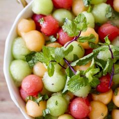Minty Melon Salad.#cooking.