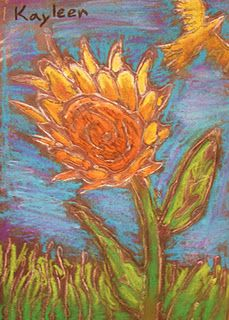 Glue lines, oil pastel fill.  emphasis on line/texure  Van Gogh tie in?