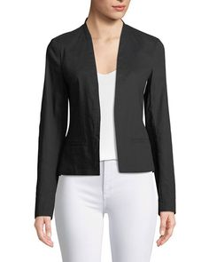 e6031dc7de1 Clean Crunch Wash Open-Front Blazer by Theory at Neiman Marcus
