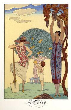 Au Lido GEORGE BARBIER Vintage Classic Art Deco Poster 1924