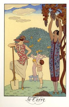 1925.  La Terre by George Barbier.  (Earth.)