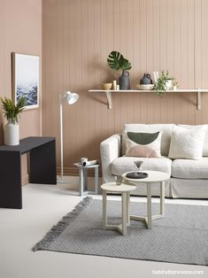 For this living room, walls have been painted in Resene Rascal (try Resene Half Rickshaw for another Leather Living Room Furniture, Brown Furniture, Paint Colors For Living Room, Living Room Decor, Living Area, Grey And Brown Living Room, Brown Walls, Brown Sofa, Interior Design