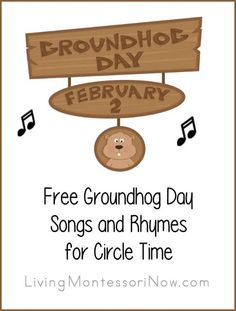 Groundhog Day YouTube Resources along with Lots of Songs, Rhymes, and Fingerplays for Groundhog Day