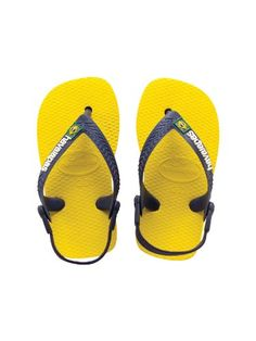 6a8835eed8e1c Havaianas Baby Brasil Navy Blue Yellow Flip Flops Toddlers Sandals 19