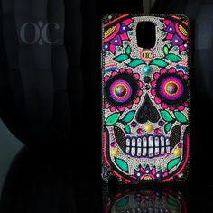 Catrina design Full face!  Mexicano inspiration  Popart,  handmade luxury handwear