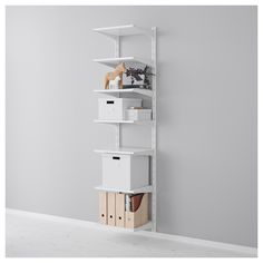 IKEA - ALGOT, Wall upright/shelves, The parts in the ALGOT series can be combined in many different ways and easily adapted to… Ikea Algot, Dream Furniture, Bedroom Furniture, Home Furniture, Ikea Bedroom, Bedroom Storage, Ikea Small Apartment, Clothes Storage Solutions, Ikea Shelves
