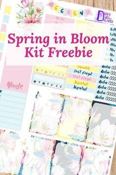 Free Spring in Bloom Printable Planner Stickers from diaryofanostalgicdreamer.wordpress.com