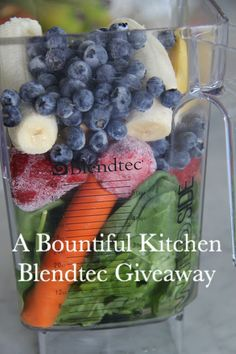 A Bountiful Kitchen Blendtec Giveaway!
