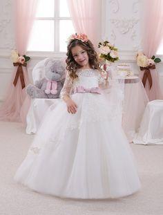 Ivory Flower Girl Dress  Wedding Holiday Party por Butterflydressua
