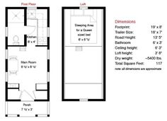 tarleton tiny house floor plans   Tumbleweed Tarleton Tiny House also pics of a finished Tarleton and measurements of various spaces