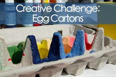Crafts for Kids: 45 Amazing ideas for turning the humble Egg Carton into something fabulous...with kids.    What would you do with an egg carton?     http://tinkerlab.com/2012/04/creative-challenge-egg-carton/