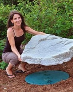 "Fake Rock Skimmer and Septic Lid Cover (Fieldstone) (6""H x 27""W x 31""D) by Dekorra, http://www.amazon.com/dp/B00411DL7S/ref=cm_sw_r_pi_dp_Ph4Isb0KCB51B"
