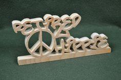 "Custom Saying Wood Scroll Cut Desk Shelf Mantle Decor Sign ""Retired Hippie"" #Handmade #Americana"