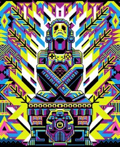 Mexican art in video game, meet Galamot Shaku and his pixel art - About Life Wild Style, Janis Joplin, The Simpsons, Woodstock, Pixel Art, Mexican Graphic Design, Warrior Images, Foto Transfer, Aztec Warrior