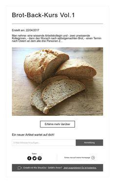 Brot-Back-Kurs Vol.1 Brot, The Moon, Stars, Homemade, Chef Recipes