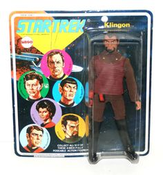 "1974 Vintage Mego KLINGON 8"" Action Figure In Original Packaging (Star Trek)"