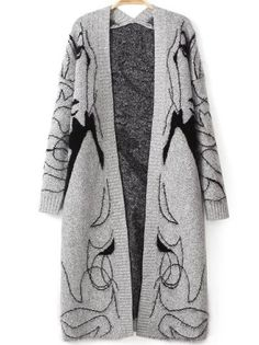 Come as you are with this awesome cardigan. Jacquard Print is so perfect for this loose cocoon sweater.Love it !