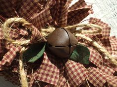 Cranberry Christmas Rag Wreath Homespun by RagWreathBoutique, $65.00