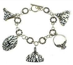Silver Apparel Link Bracelet