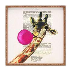 DENY Designs Coco de Paris Giraffe With Bubblegum IndoorOutdoor Square Tray 16 x 16 * For more information, visit image link.