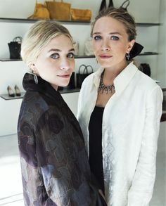 I love their looks from these photos Ashley and Mary-Kate by Kirk McKoy in 2014 (via olsensobsessive.com)