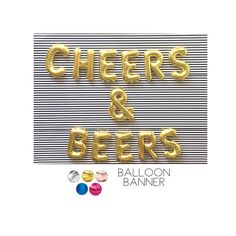 CHEERS & BEERS Balloons Decoration Rose Gold Balloons