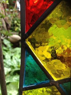 Unique Stained Glass Garden Art